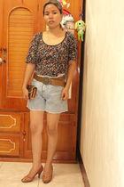 porridge by laurastang top - Wranco shorts - Axioma shoes - Louis Vuitton purse
