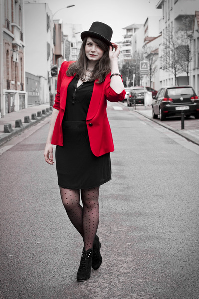 Red Jacket Dress - Coat Nj