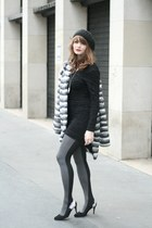 heather gray Cette tights - charcoal gray Derhy vest