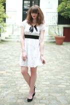 white Rene Derhy dress