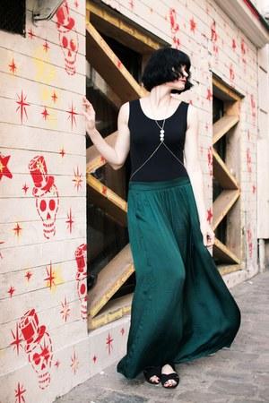 forest green Zara skirt