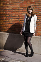 black H&M dress - gray Zara blazer