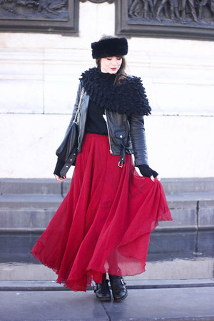ruby red Sheinside skirt