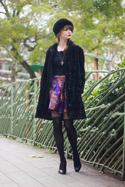 deep purple Derhy skirt