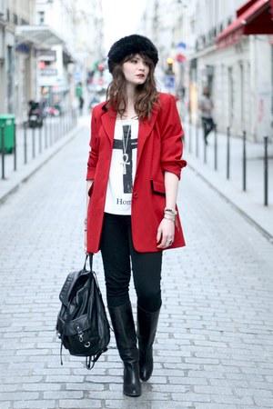 black Exclusif boots - black new look bag