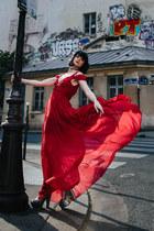 ruby red Sheinside dress