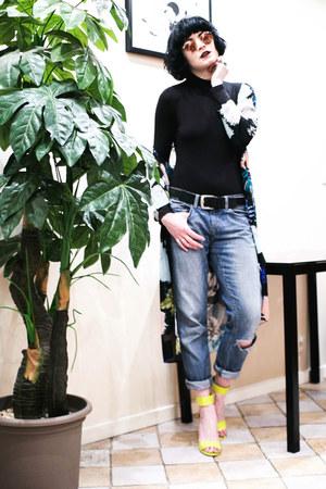 peach rayban sunglasses - black Rosewholesale bodysuit