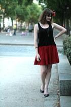 ruby red American Apparel skirt