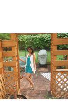 white American Eagle cardigan - green Target dress