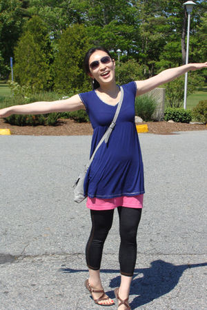 purple American Eagle dress - pink Urban Outfitters dress - blue Ebay leggings -