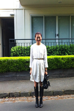 arthur galan dress - Marc by Marc Jacobs boots - Mulberry bag