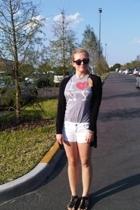 junkfood shirt - H&M jacket - Guess shorts - Buffalo shoes