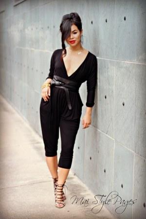 Forever21 romper - Zara heels