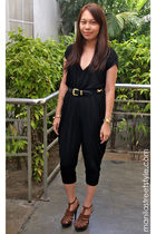 black hongkong top - brown Brandy&Zoe shoes