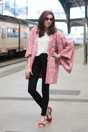 bubble gum kimono vintage jacket - bubble gum Mango sunglasses