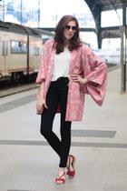 bubble gum kimono vintage jacket - bubble gum Mango sunglasses