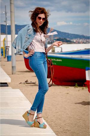 sky blue Gaimo Espadrilles sandals - sky blue Topshop jeans