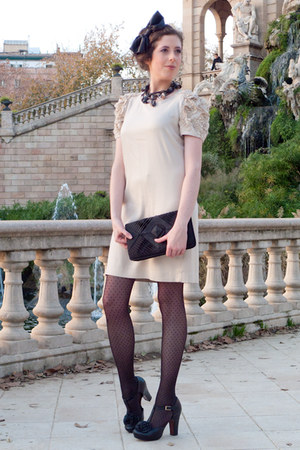 neutral SANDRO dress - black Oysho tights - black Chie Mihara shoes - black Bers