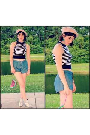 sammydress boots - Urban Outfitters shorts - Forever 21 top