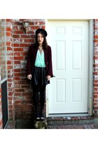 Urban Outfitters top - Tobi leggings - Forever 21 skirt