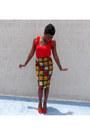 Gold-self-made-skirt-red-vero-moda-blouse
