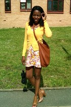 H&M dress - mustard yellow H&M cardigan