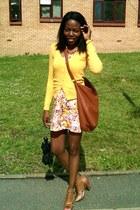 H&M dress - mustard yellow H&M cardigan