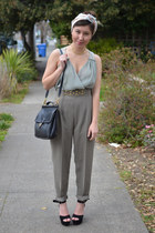 thrifted pants - Anthropologie shirt