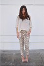 Nude-snakeprint-charlotte-russe-shoes-ivory-sparkle-h-m-sweater