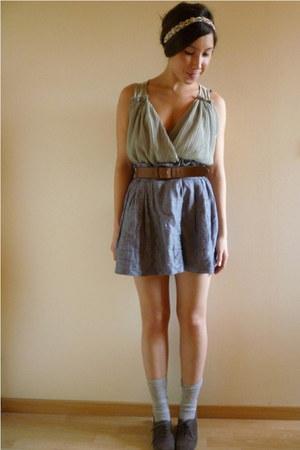 Anthropologie blouse - Forever 21 skirt