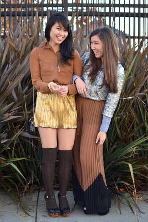 sequin Forever 21 shirt - Forever 21 skirt - sheer ingenue Sugarlips pants