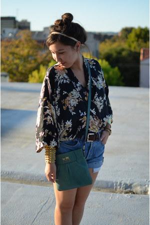 kimono DIY jacket - studded DIY bracelet