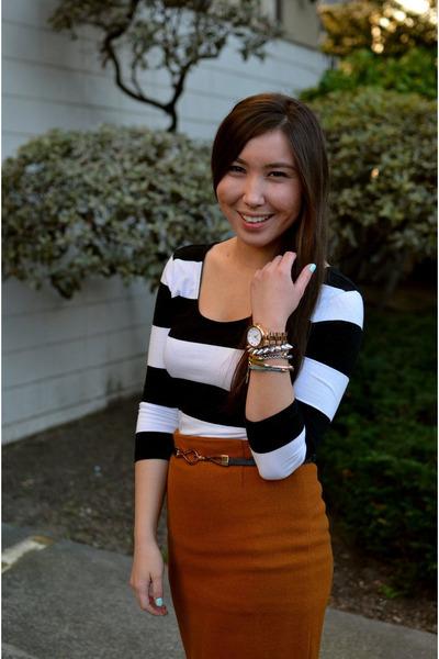 thrifted skirt - f21 dress - Mont Affair belt
