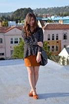 thrifted coach bag - sam edelman shoes - 2020AVE shirt - thrifted skirt