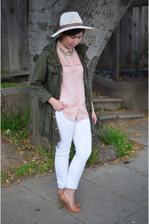 JCrew jeans - Urban Outfitters hat - Forever 21 jacket