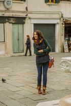 Zara scarf - pull&bear boots - Musette bag - Calzedonia socks