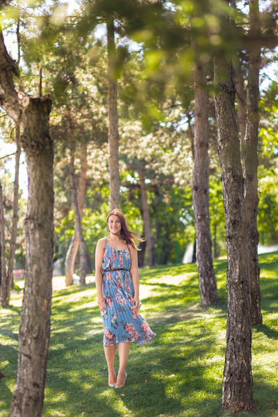 Mango shoes - floral print Mango dress - Accessorize bag