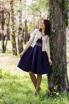 Massimo Dutti shoes - nissa dress - bow Zara cardigan - Accesorise necklace