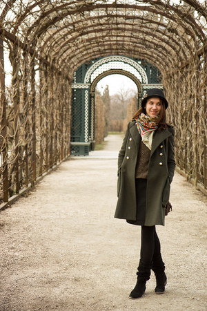 seqiun Mango sweater - miniprix boots - military Zara coat - meli melo hat