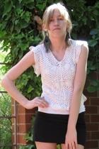 Urban Outfitters skirt - vintage top - handmade earrings
