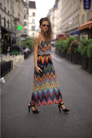 chevron print dress - asos sandals