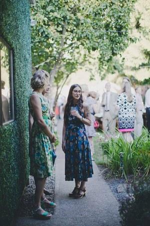 vintage dress - Swedish Hasbeens clogs