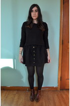 H&M skirt - vintage shoes - H&M sweater