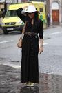 Black-united-arrows-dress-black-primark-cardigan-yellow-dkny-shoes-yellow-