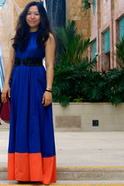 4316425c5fa blue maxi halter asos dress - magenta alexa Mulberry bag