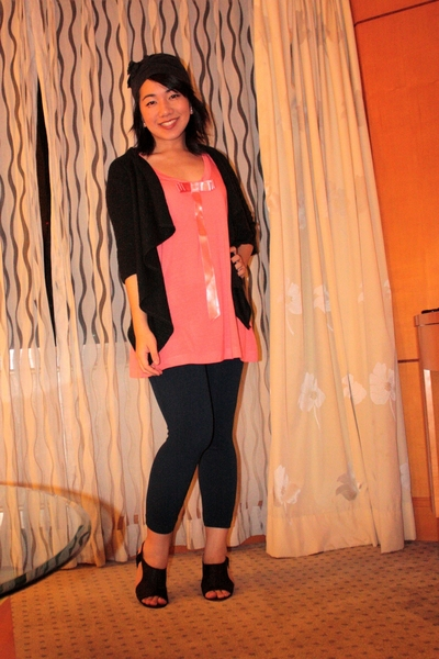 Thou Adorned at The Ramp hat - landmark sweater - Topshop top - Guo gifted leggi