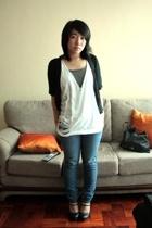 gifted sweater - landmark top - DIY Shredded top - bench jeans - People are Peop