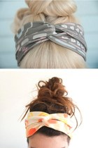 silver hair accessory - ivory hair accessory
