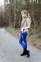 Zara jacket - Forever 21 shoes - Gucci jeans