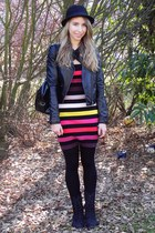 Forever 21 boots - Sonia Rykiel for H&M dress - H&M coat - H&M hat - Primark bag